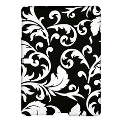 Vector Classical Traditional Black And White Floral Patterns Samsung Galaxy Tab S (10 5 ) Hardshell Case