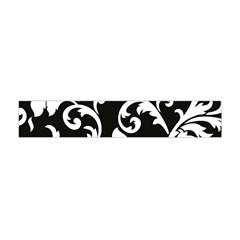 Vector Classical Traditional Black And White Floral Patterns Flano Scarf (mini)