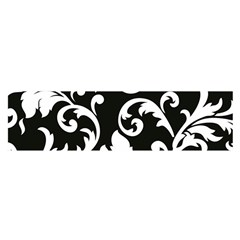 Vector Classical Traditional Black And White Floral Patterns Satin Scarf (oblong)