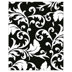 Vector Classical Traditional Black And White Floral Patterns Drawstring Bag (small)