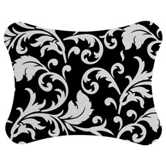 Vector Classical trAditional Black And White Floral Patterns Jigsaw Puzzle Photo Stand (Bow)