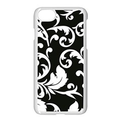 Vector Classical Traditional Black And White Floral Patterns Apple Iphone 7 Seamless Case (white)