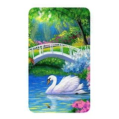 Swan Bird Spring Flowers Trees Lake Pond Landscape Original Aceo Painting Art Memory Card Reader