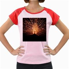 3d Beautiful Peacock Women s Cap Sleeve T-Shirt