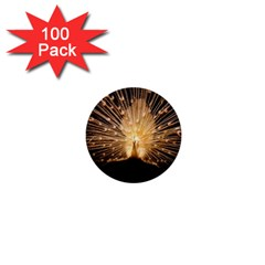3d Beautiful Peacock 1  Mini Buttons (100 Pack)