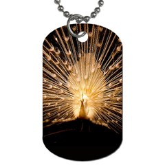 3d Beautiful Peacock Dog Tag (one Side)