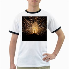 3d Beautiful Peacock Ringer T Shirts