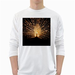3d Beautiful Peacock White Long Sleeve T Shirts