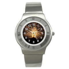 3d Beautiful Peacock Stainless Steel Watch