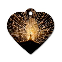 3d Beautiful Peacock Dog Tag Heart (two Sides)