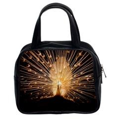 3d Beautiful Peacock Classic Handbags (2 Sides)