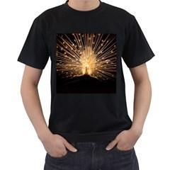 3d Beautiful Peacock Men s T-Shirt (Black)