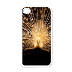 3d Beautiful Peacock Apple Iphone 4 Case (white)