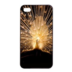 3d Beautiful Peacock Apple Iphone 4/4s Seamless Case (black)