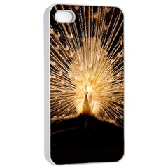 3d Beautiful Peacock Apple Iphone 4/4s Seamless Case (white)