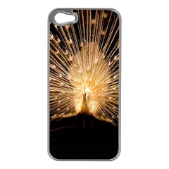 3d Beautiful Peacock Apple Iphone 5 Case (silver)