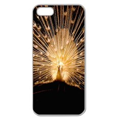 3d Beautiful Peacock Apple Seamless Iphone 5 Case (clear)