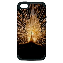 3d Beautiful Peacock Apple Iphone 5 Hardshell Case (pc+silicone)
