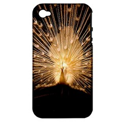 3d Beautiful Peacock Apple iPhone 4/4S Hardshell Case (PC+Silicone)