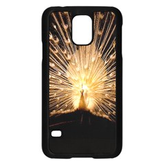 3d Beautiful Peacock Samsung Galaxy S5 Case (Black)