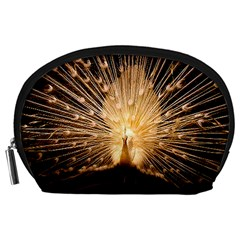 3d Beautiful Peacock Accessory Pouches (large)