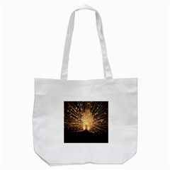 3d Beautiful Peacock Tote Bag (White)