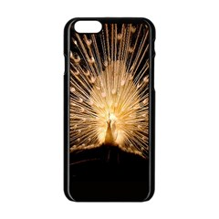 3d Beautiful Peacock Apple Iphone 6/6s Black Enamel Case
