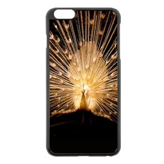 3d Beautiful Peacock Apple iPhone 6 Plus/6S Plus Black Enamel Case