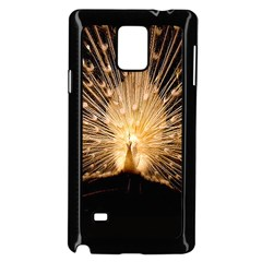 3d Beautiful Peacock Samsung Galaxy Note 4 Case (black)