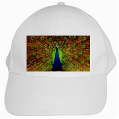 3d Peacock Bird White Cap