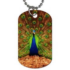 3d Peacock Bird Dog Tag (two Sides)