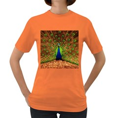 3d Peacock Bird Women s Dark T Shirt