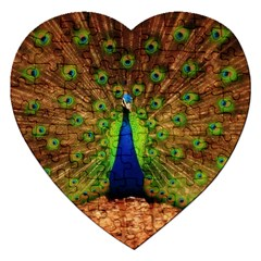 3d Peacock Bird Jigsaw Puzzle (heart)