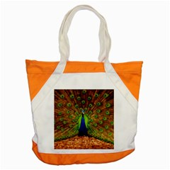 3d Peacock Bird Accent Tote Bag