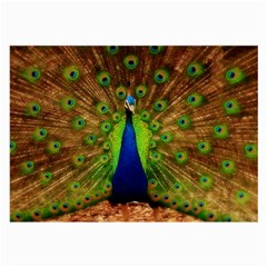 3d Peacock Bird Large Glasses Cloth (2 Side)