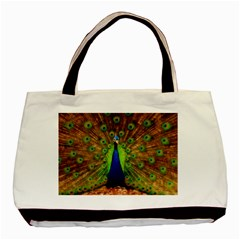 3d Peacock Bird Basic Tote Bag (two Sides)