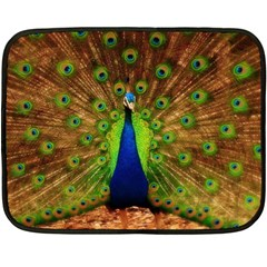 3d Peacock Bird Double Sided Fleece Blanket (mini)