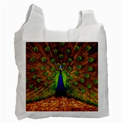 3d Peacock Bird Recycle Bag (One Side)