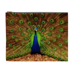 3d Peacock Bird Cosmetic Bag (xl)