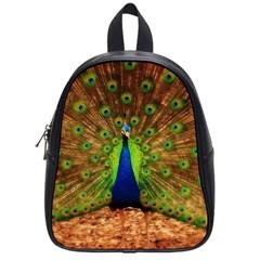 3d Peacock Bird School Bags (small)