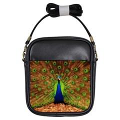 3d Peacock Bird Girls Sling Bags