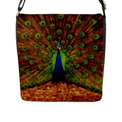 3d Peacock Bird Flap Messenger Bag (l)