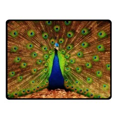 3d Peacock Bird Double Sided Fleece Blanket (small)