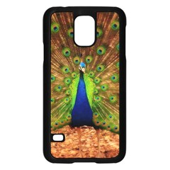 3d Peacock Bird Samsung Galaxy S5 Case (black)