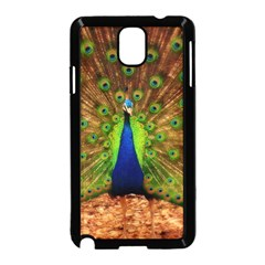 3d Peacock Bird Samsung Galaxy Note 3 Neo Hardshell Case (black)