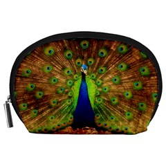 3d Peacock Bird Accessory Pouches (large)