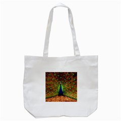 3d Peacock Bird Tote Bag (white)
