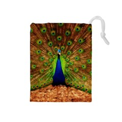 3d Peacock Bird Drawstring Pouches (medium)