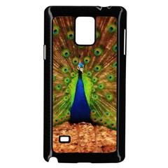3d Peacock Bird Samsung Galaxy Note 4 Case (black)