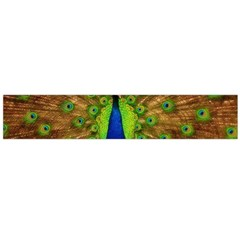 3d Peacock Bird Flano Scarf (Large)
